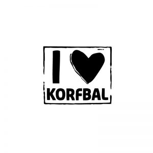 Sticker I love korfbal