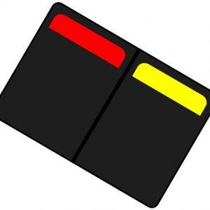 Kaartenset geel en rood