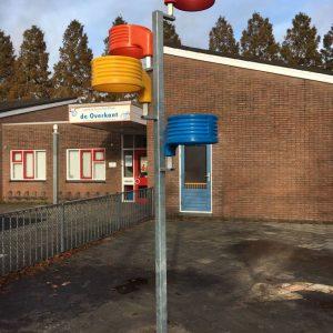 Multikorf op schoolplein