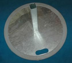 Voetplaat rubberen rand