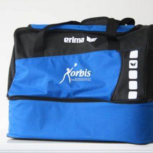 Sporttas met logo Korbis