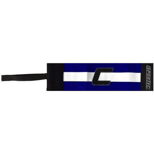 Sportec aanvoerdersband blauw