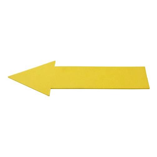 Vloermarkering pijl geel