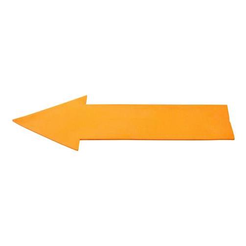 Vloermarkering pijl oranje